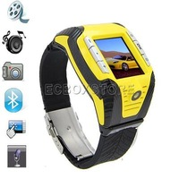 F3 Sports - 1.33 Inch Watch Cell Phone, Tri-Band hidden camera Bluetooth MP3 Mp4