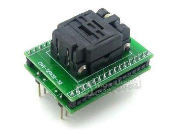 QFN32 TO DIP32 QFN32 MLF32 MLP32 QFN Plastronics IC Test Burn-in Socket Programming Adapter 5x5 mm 0.5Pitch + Free Shipping