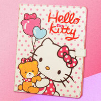 Hello Kitty PU Leather Case Smart Cover Stand For Apple i Pad 2 and 3 Free shipping