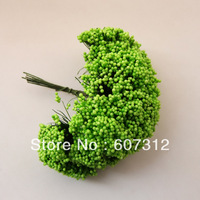 144pcs / lot Green  foam leeks flower  with wire stem/  decoration handmade flower  free shipping