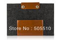 for 100% Woolfelt &amp; Leather Sleeve for 13-inch MacBook Pro