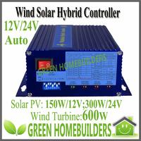 12/24V Auto 600W Wind Turbine +300W Solar Wind  Hybrid  Charge Controller