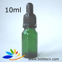 free shipping 192pcs/lot 10ml green dropper bottle, glass bottle screw cap