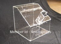 acrylic candy storage bin airtight hinged lid+Fast shipping+ Low price + Wholesale/retail