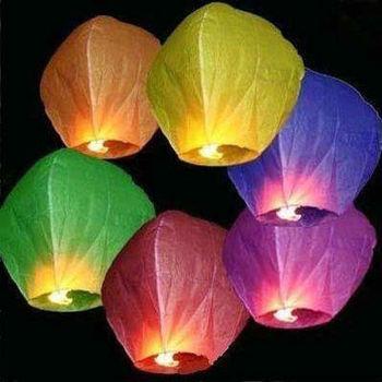 1lot=10pcs Sky Lanterns Wishing Lamp Flying Lanterns Sky Chinese Lanterns Birthday Wedding Party