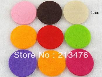 300PC Felt 40mm Circle Appliques - 8color Upick Free Shipping Mix