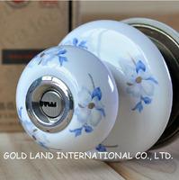 Free shipping 2pc/set ceramics lever handle bedroom door lock