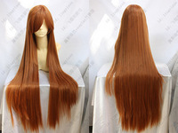 013 New Long Orange Brown Cosplay Party Wig 100cm