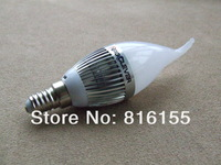 NRG 10 pcs/lot AC 85~265V E14 3W New LED Candle Bulb for window lighting with Warm White LED Lamp