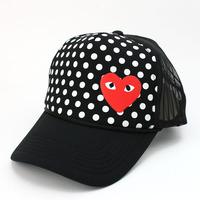 Dot love cdg play male women's mesh cap truck cap