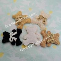 60 Beige Brown Black Mix colors Plush Teddy Bear Bow Tie Applique Wedding  Craft Favor Gift 35mm