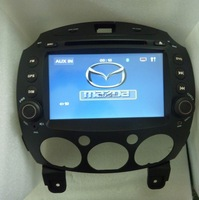 hot sel for Mazda 2 CAR DVD WITH GPS/GOOD RUSSIAN language/fress shipping /free rear camera/ free sd card