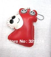 50pcs/lot cute PU cotton button doll mobile chain/ mobile phone strap/ mobile accessories/bag decoration