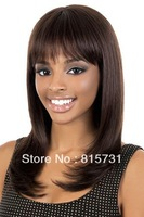Classic 100% Remy  Hair Light Yaki Straight Brown lace front Wig--Custom Color--Free Shipping