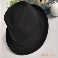 M-351 100% cotton general black fashion cap jazz hat fedoras