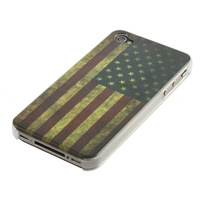 100pcs LOOK Old Fashioned Smoky STYLE US UNITED STATES AMERICAN National Flag Hard Back Case Cover for iPhone 4 4G 4S