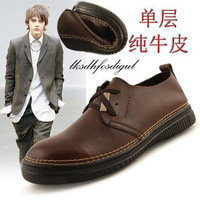 2012 men's business casual leather all-match casual shoes soft leather shoes
