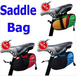 New Fashional Outdoor Cycling Bike Bicycle Saddle Bag Back Seat Tail Pouch Package Green 3 Colors Red Blue Green, Free Shipping(China (Mainland))