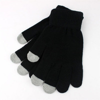 Touch Screen Gloves for iPhone iPad and All Touchscreen Devices, Smartphone Gloves (Black)