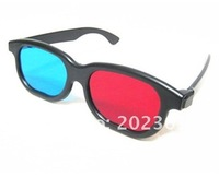1000pcs/lot Plastic 3d glasses red / Blue sunglasses 3D TV movie