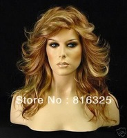 free shipping >>> Charming long Wavy Brown women's wig+