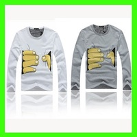MM002 Fashion Men&#39;s Wear Long Sleeve T-shirts With Hand Printed Silm/Cultivate One&#39;s Morality M-XXXL Tees Free Shipping