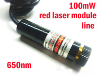100mW 650nm red (Line) laser diode moule DC5~12V CW Industrial class 12x48mm
