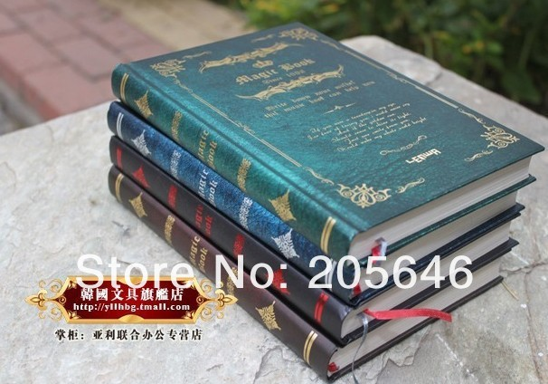 4 colors Vintage New Harry Potter Notebook/Diary Book/Hard Cover Note Book/Notepad/Agenda Planner Gift Wholesale(China (Mainland))