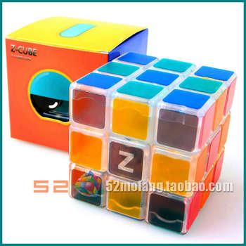 Free shipping of Transparent magic cube 3x3 pure transparent generation crystal magic cube