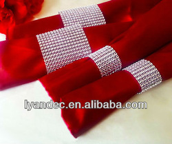 Free shippinge Wedding & Party decor napkin rings rhinestone ribbon table decoration napkin rings(China (Mainland))