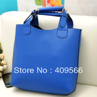 Fashion women's handbag  hot blue beige khaki brown black totes high quality FREE SHIPPING pu leather high quality shouler bag