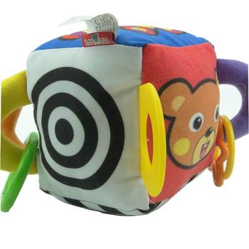 Cloth child baby educational toys vocalization puppet belt diabolo multifunctional magic cube