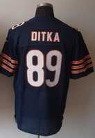 New Style Chicago #89 Mike Ditka Blue Football Elite Jersey Fast & Free Shipping Stitched Numbers