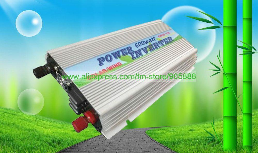 Freeshipping!On Grid Inverter 600w Grid Tied Inverter, DC10.5~28V to AC90V~140V,Best quality(China (Mainland))