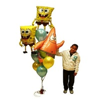 free shipping 2012 SpongeBob big star birthday party balloons 10pcs/lot adorable video game theme decoration