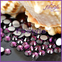 2028 BLING AMETHYST Color Flat Back Crystal Stones (Non Hotfix) Silver Foiled Back  SS4 SS5 SS6 SS8 SS10 SS12 SS16 SS20 SS30