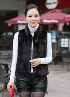 New arrival 2013 ladies' luxurious faux fur vest mink fur waistcoat women L,XL,XXL size 2 colors Free Shipping