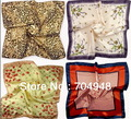 Free Shipping Wholesale Female Model Retro Small Square Scarves Imitate Silk/Vintage Scarf