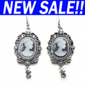 Luxury branded Cameo rhinestones silver Earrings new arrivals 2013 fashion designer jewellery ers-g07