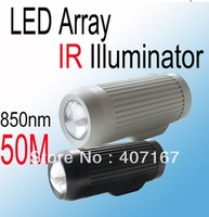New Product Array-infrared LED barrel IR illuminator (850nm/50M) IR light for CCTV Camera  light compensation