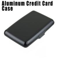 10pcs Black Color Fashion Aluminum Metal Case Box Waterproof Business ID Credit Card Wallet Holder