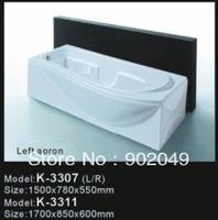 Corner Whirlpool Bathtub Bathtub K-3311 Acrylic Square Soaking SPA Bathtubs Hand Control Bathroom Sets