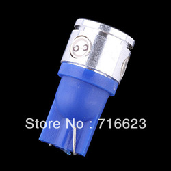 wholesale2pcs 2.5W high power T10 168 W5W Car LED Wedge Light Bulb License plate lights turn signal light blue(China (Mainland))