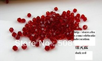 Hot Sell 288pcs 6mm  Best Quqlity Dark RED   Bicon Crystal  Beads  @5301 beads for  DIY products wholesale and retail