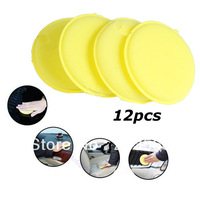 Free Shipping! 1Pack/12pcs Waxing Polish Wax Foam Sponge Applicator Pads For Clean Car Vehicle Glass
