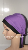 LRD20121201 Free shipping muslim inner hats in assorted colors,muslim inner caps,islamic scarf