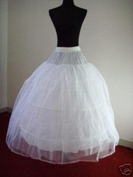 Hot sale 50% off 3 HOOP Ball Gown BONE FULL CRINOLINE PETTICOAT WEDDING SKIRT SLIP NEW(China (Mainland))