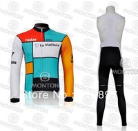2011 Wonder Team Cycling Long sleeve Winter Fleece Thermal Long Sleeve bike clothing+bib pants/cycle wear/Bicycle jersey