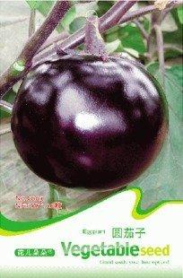 Free Shipping 5 Packs 150 seeds,Purple Round Eggplant Aubergine Vegetable C003