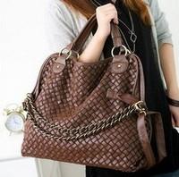 NALULA Korean style Lady Hobo PU leather bag 2013 Fashion PU Leather Handbag Popular Shoulder Messenger Bags Q017